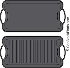 Non-stick Griddle - Cast iron non-stick Griddle - kitchen...