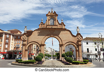 Triumph arch in Antequera, Andalusia Spain