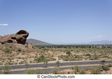 Scottsdale, AZ - Scottsdale and McDowell Rd as seen from...