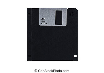 Floppy diskette isolated on white background with clipping...