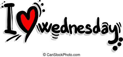 Love Wednesday - Creative design of love Wednesday