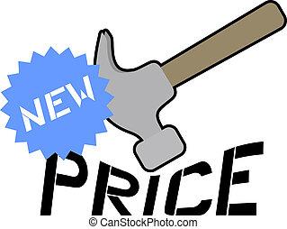 New price - Creative design of new price