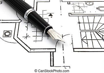鋼筆, 泉水, 圖表, 事務