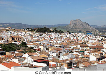 View over the town Antequera, Andalusia Spain