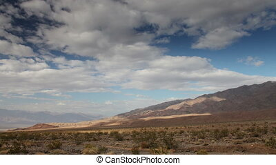 view of a mountain range in death valley, california, shot...