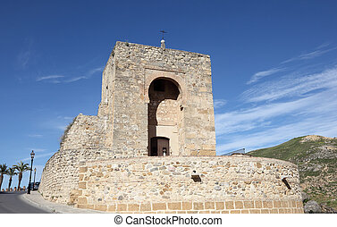 Chapel built into moorish fortress in Antequera, Andalusia...