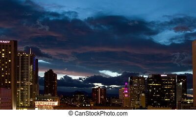 view of the denver skyline, colorado