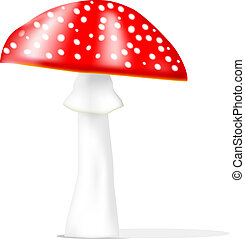 Realistic vector fly agaric - EPS10, gradient meshes