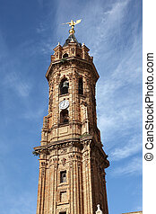 San Sebastian church tower in Antequera, Andalusia Spain