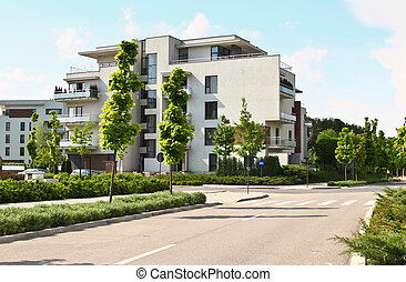 Apartment building in a residential area