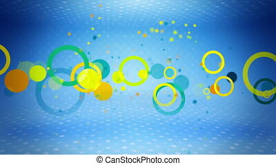 colorful circles on blue loop