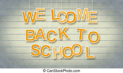welcome back to school with alpha - welcome back to school...