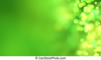 green bokeh circles loop