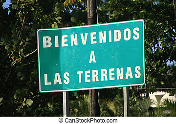 Welcome to Las Terrenas sign, Dominican Republic