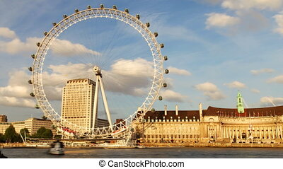 the london eye millenium wheel