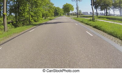 Actioncam: driving a motorcycle - Driving a motorcycle over...