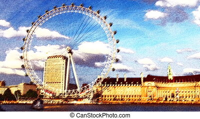 pattenr made from timelapse shots of the london eye shot...