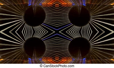 abstract pattern made from multipe timelapse shots of the...