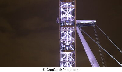 timelapse shots of the london eye shot from the side