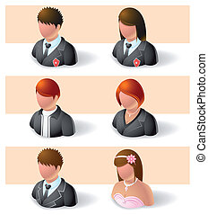 people icons - men and women - Illustration of people icons...