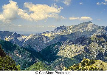 Alpi Apuane Tuscany - Alpi Apuane Tuscany, Italy: mountain...