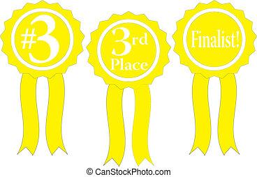 yellow ribbon awards vector