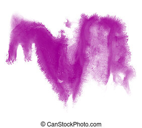 paint purple stroke splatters color watercolor abstract water brush watercolour red texture ink painting isolated