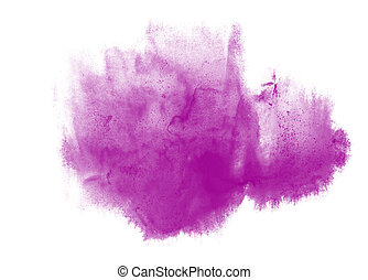 paint stroke purple splatters color watercolor abstract water brush watercolour red texture ink painting isolated