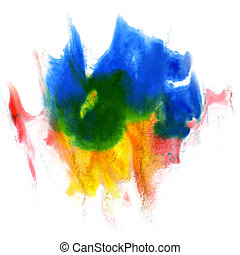 paint stroke splatters color watercolor abstract water brush...