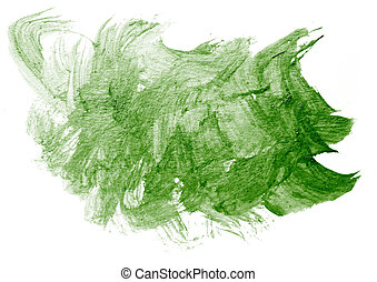 stroke green paint splatters color watercolor abstract water...