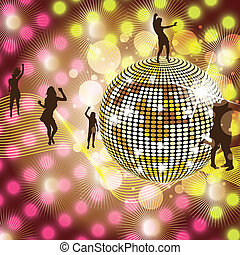 Disco Party Background - Disco Party colorful Background