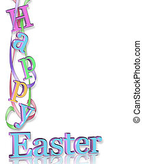 Happy Easter Border - Image and illustration composition for...