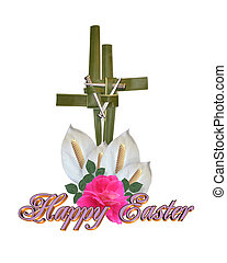 Easter Cross Graphic isolated - Image and illustration...