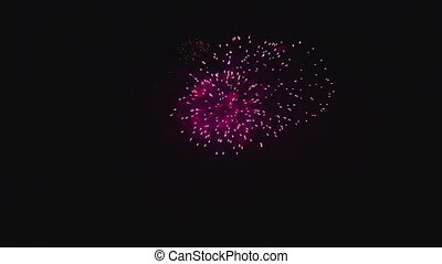 Colorful fireworks