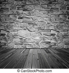 Stone wall and wood floor. All textures created by me
