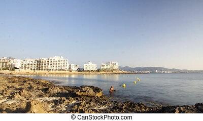 a view of the coast in san antoni,  ibiza