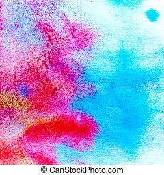 macro texture red blue watercolors with brush strokes - art...