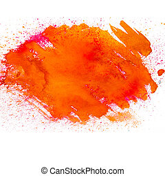 orange spot blotch watercolors isolated on white background...