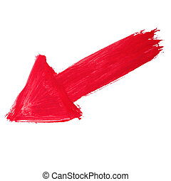 paint brush red arrow pointer watercolor texture stroke...