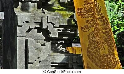 banner with dragon at a hindu templ