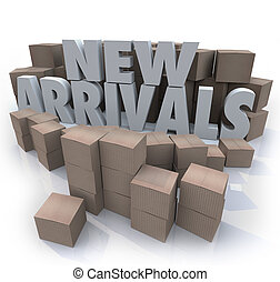 New Arrivals Cardboard Boxes Items Merchandise Products -...