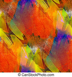 seamless painting orange red yellow watercolor blue with...