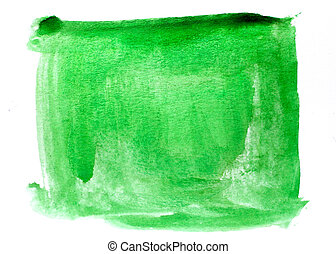 spot art watercolor green square texture blue isolated on a...
