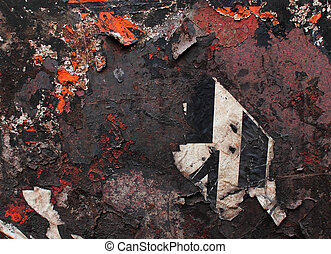 texture of old iron scraps of paper