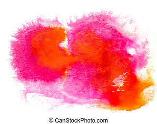 watercolor orange yellow red texture splash ink watercolour...