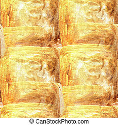 watercolor yellow brown seamless background texture
