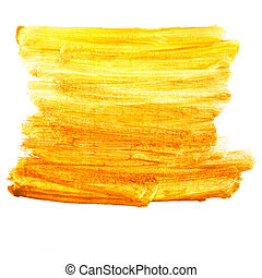 yellow brown watercolor paint brush watercolour color stroke...