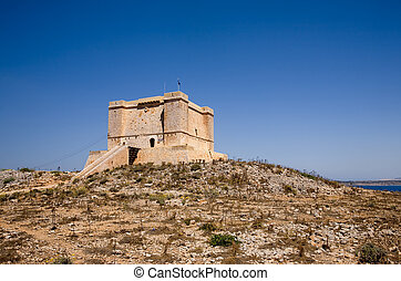 Saint Marija\\\'s Tower - St marija tower on comino island,...