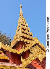 Temple in The Shwezigon Pagoda, Bagan