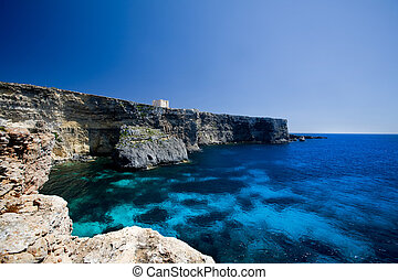 St Mary\\\'s Bay - Saint Mary\\\'s bay at Comino island,...